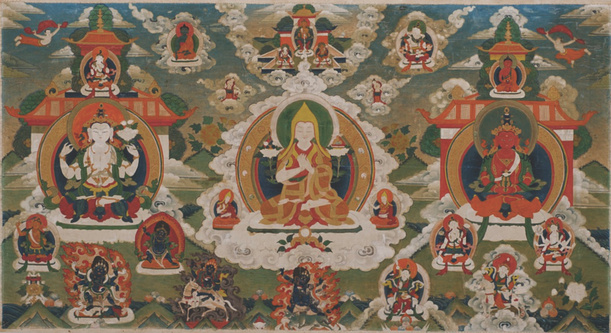 a description of how the buddhist religion tie in with the tibetans Tibetans should be proud that like any other major civilizations of the world, they too had an ancient religious culture, which evolved over the period of time, coexisted with buddhism, and gave the land and the world a unique religion and culture of peace, compassion and non-violence.
